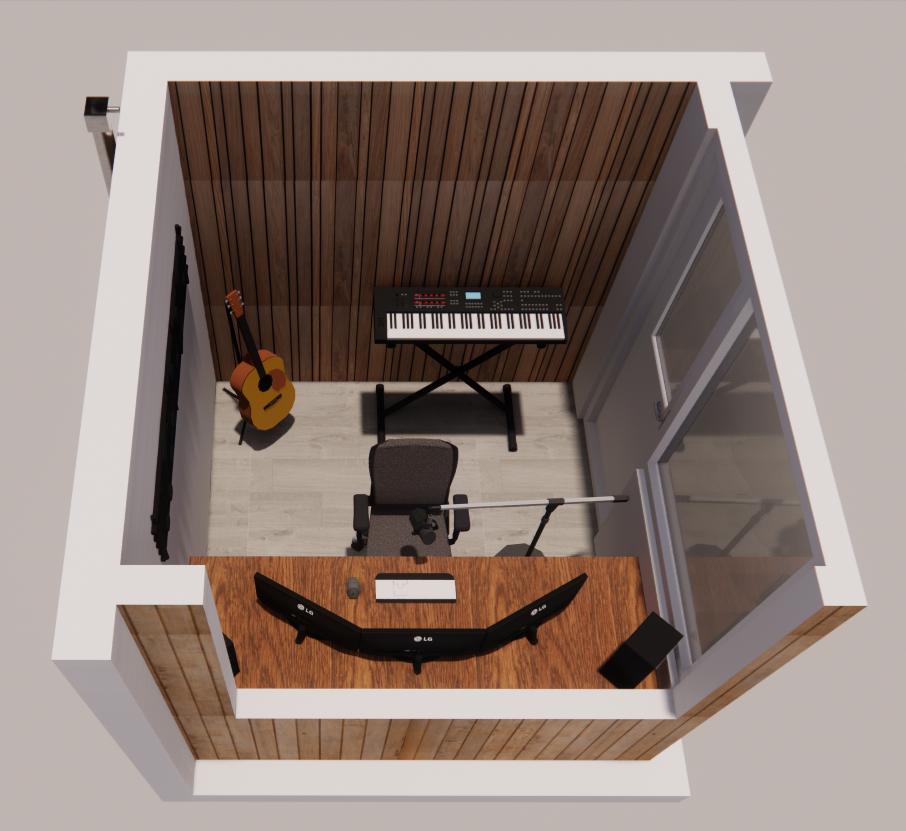 Muziekstudio in tuin