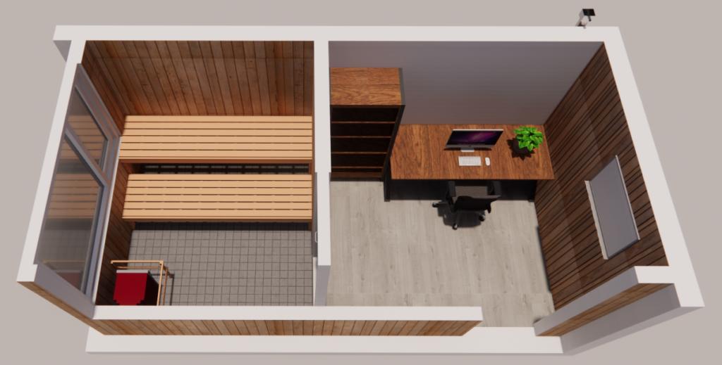 Sauna in tuin