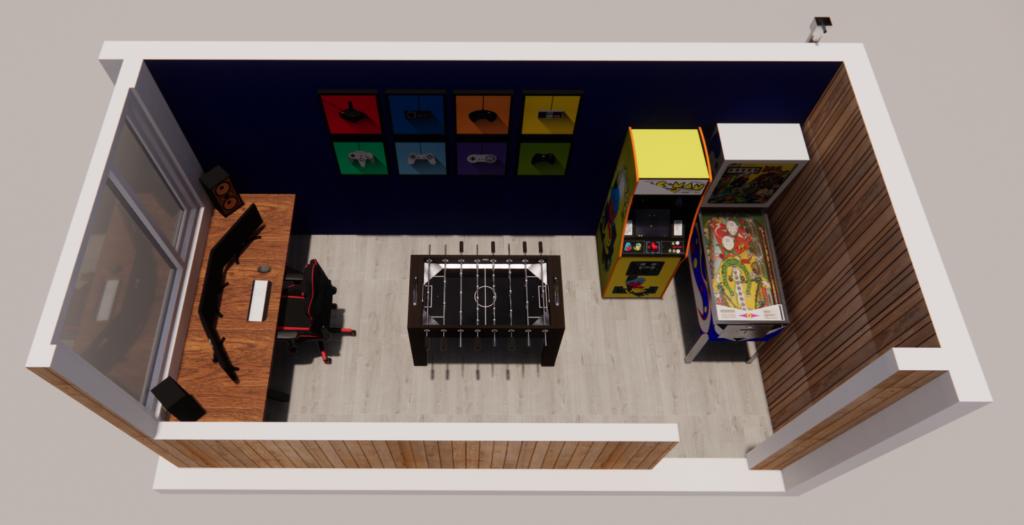 Gameroom in tuin